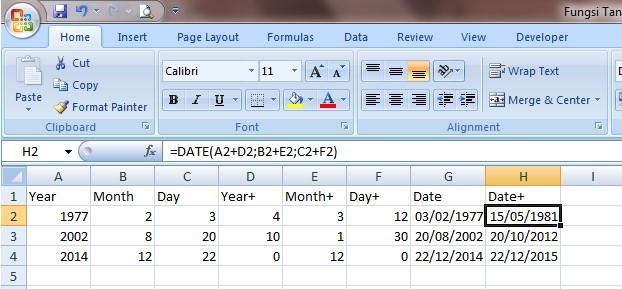 RUMUS DATE